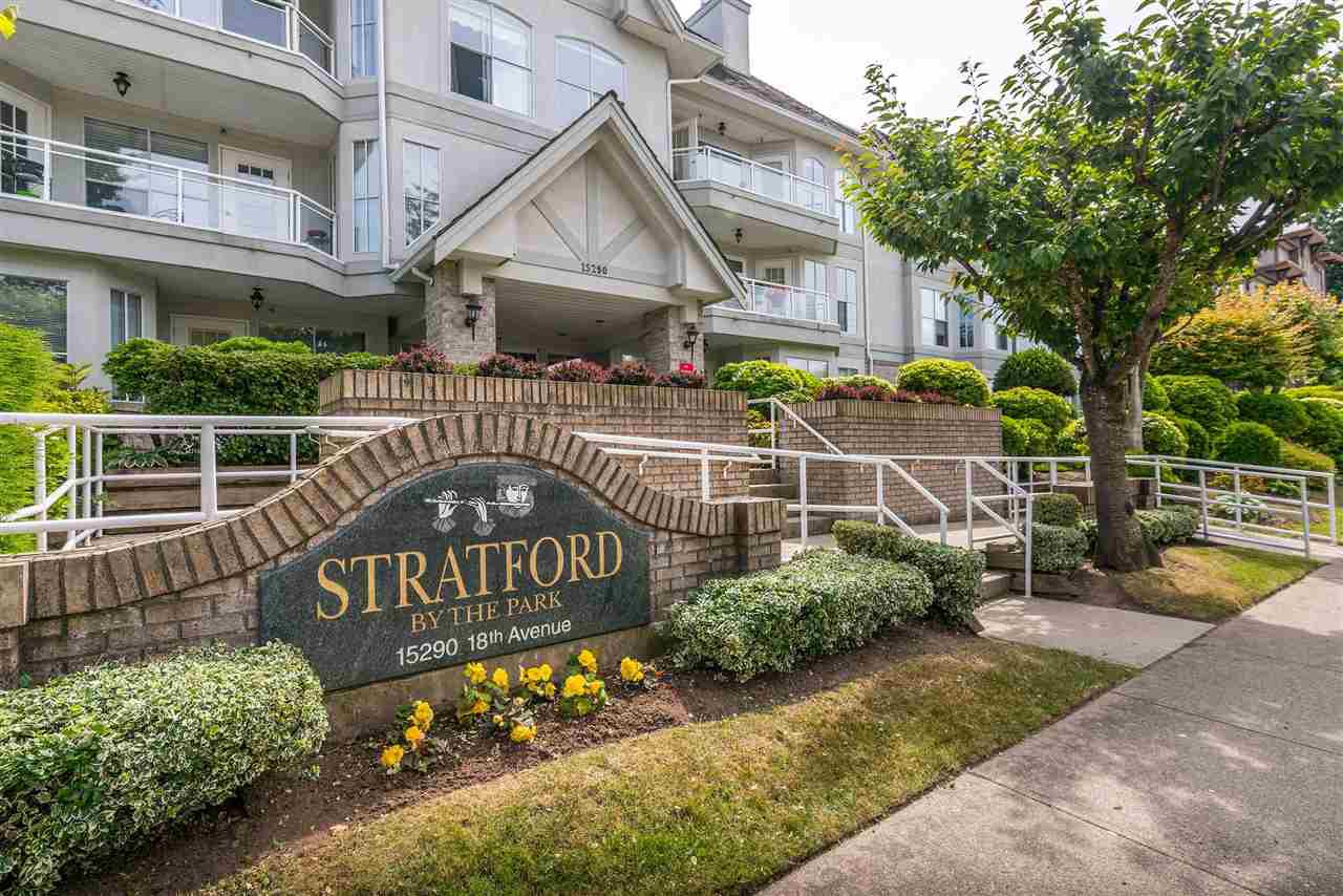 """Photo 1: Photos: 202 15290 18 Avenue in Surrey: King George Corridor Condo for sale in """"STRATFORD BY THE PARK"""" (South Surrey White Rock)  : MLS®# R2460896"""