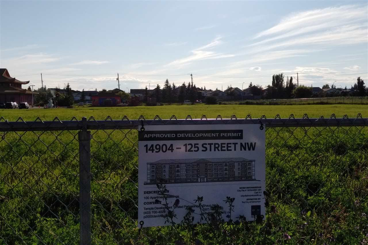 Main Photo: 14904 125 Street in Edmonton: Zone 27 Land Commercial for sale : MLS®# E4165655