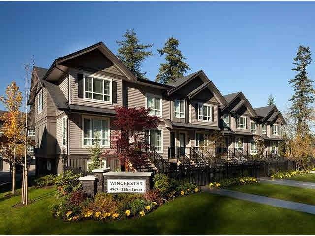 "Main Photo: 20 4967 220TH Street in Langley: Murrayville Townhouse for sale in ""WINCHESTER ESTATES"" : MLS®# F1433815"