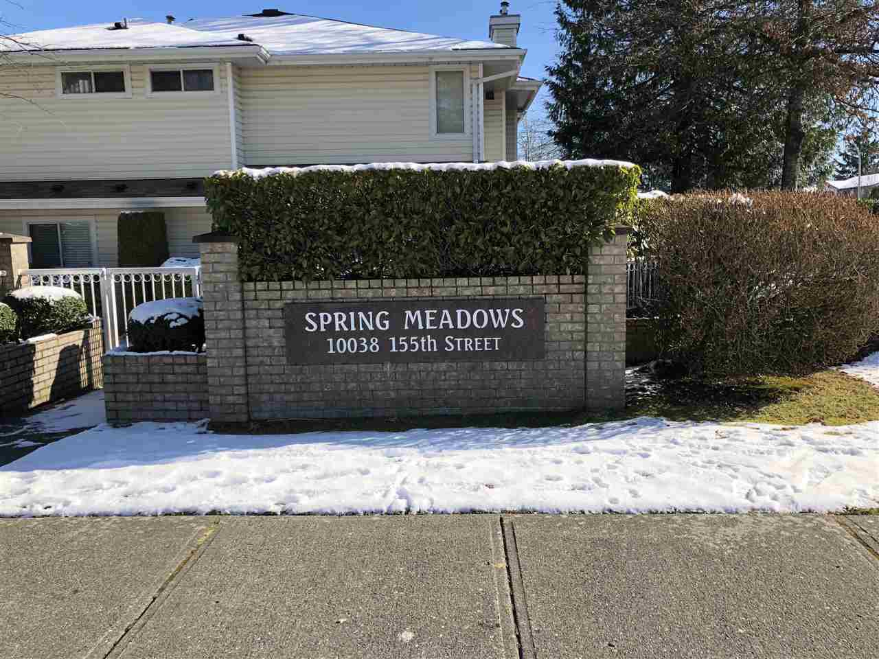 "Main Photo: 54 10038 155 Street in Surrey: Guildford Townhouse for sale in ""SPRING MEADOWS"" (North Surrey)  : MLS®# R2240810"