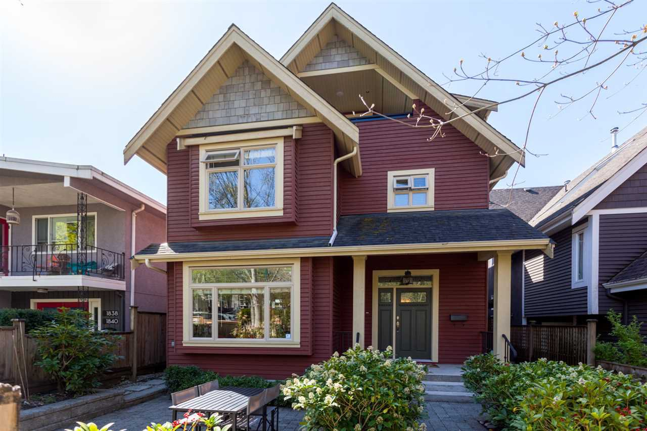 """Main Photo: 1834 E 6TH Avenue in Vancouver: Grandview VE House 1/2 Duplex for sale in """"COMMERCIAL DRIVE"""" (Vancouver East)  : MLS®# R2260819"""