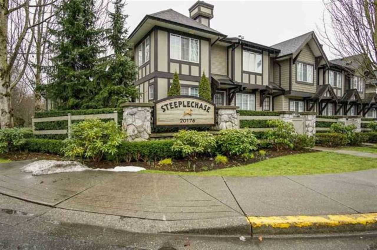 "Main Photo: 19 20176 68 Avenue in Langley: Willoughby Heights Townhouse for sale in ""STEEPLECHASE"" : MLS®# R2332833"
