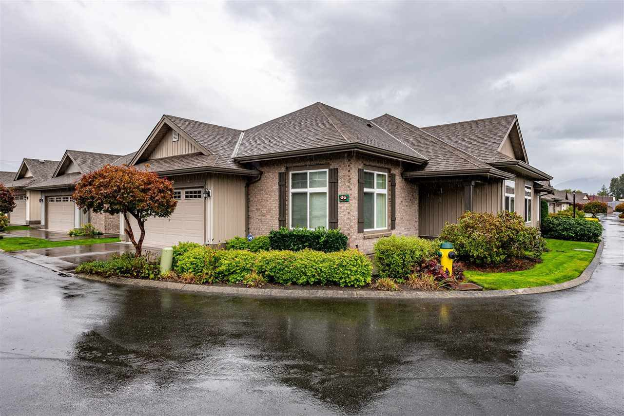"Main Photo: 36 45752 STEVENSON Road in Chilliwack: Sardis East Vedder Rd House for sale in ""Higginson Villas"" (Sardis)  : MLS®# R2524444"