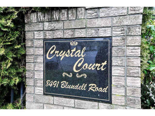"""Main Photo: 3 8491 BLUNDELL Road in Richmond: Brighouse South Townhouse for sale in """"CRYSTAL COURT"""" : MLS®# V1104096"""