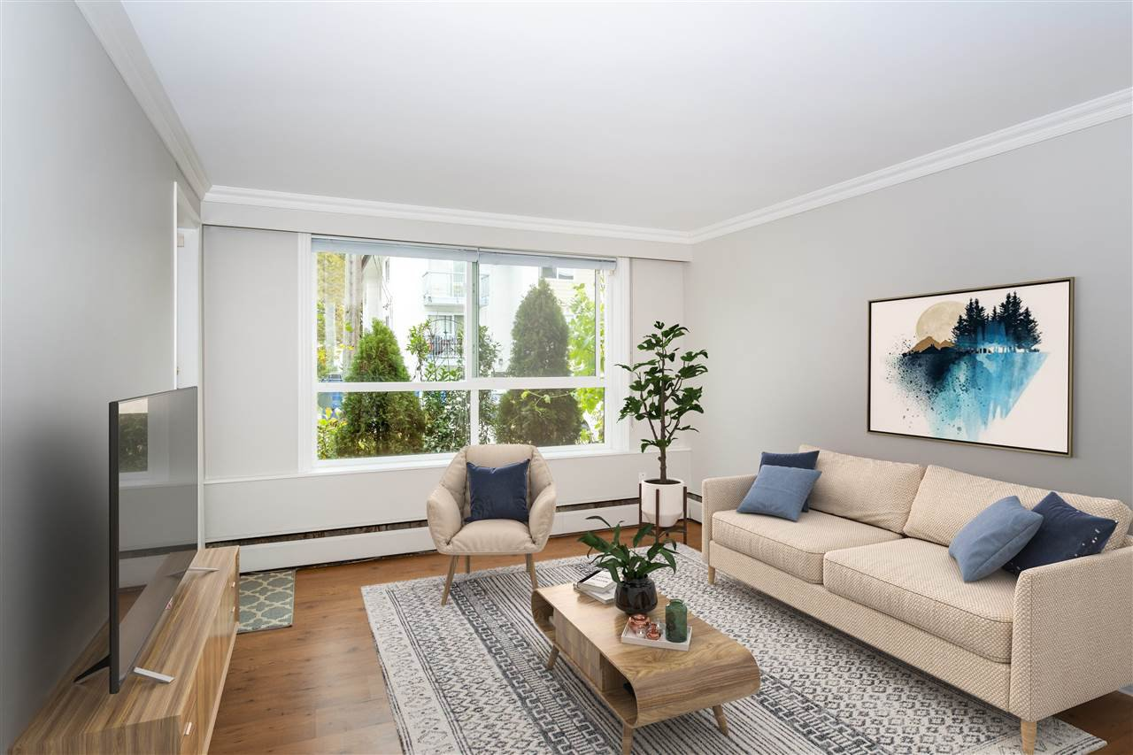 "Photo 2: Photos: 113 8680 FREMLIN Street in Vancouver: Marpole Condo for sale in ""COLONIAL ARMS"" (Vancouver West)  : MLS®# R2416429"