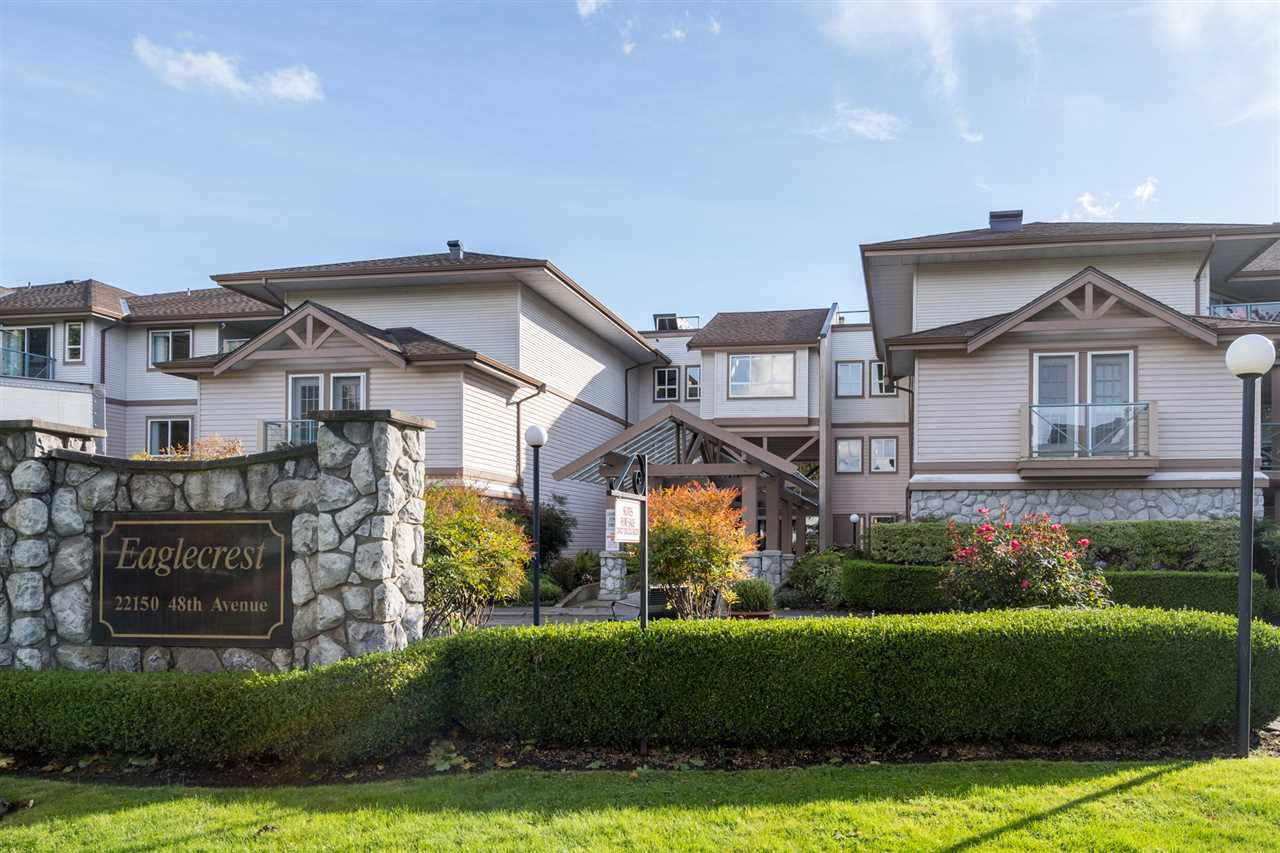 "Main Photo: 212 22150 48 Avenue in Langley: Murrayville Condo for sale in ""Eaglecrest"" : MLS®# R2508991"