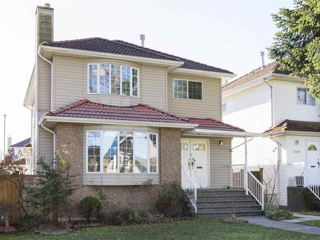 Main Photo: 2468 William St. in Vancouver: Renfrew VE House for sale (Vancouver East)  : MLS®# R2039909