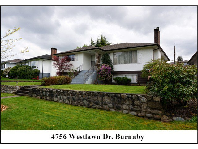 "Main Photo: 4756 WESTLAWN Drive in Burnaby: Brentwood Park House for sale in ""Brentwood Park"" (Burnaby North)  : MLS®# V1059724"