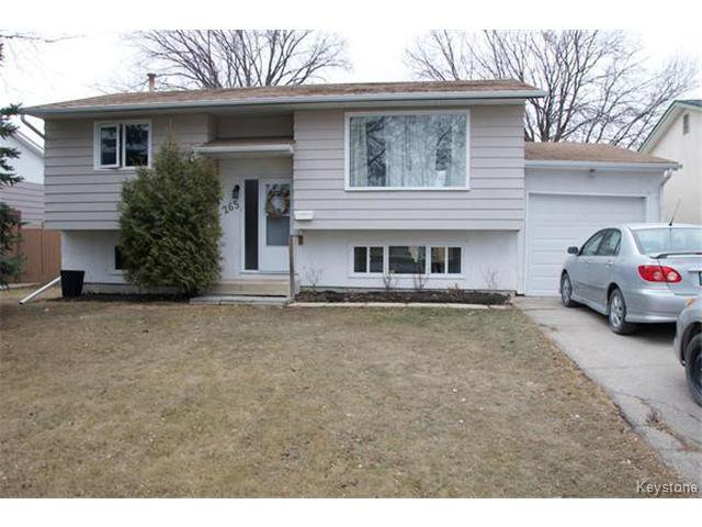 Main Photo: 265 Wales Avenue in WINNIPEG: St Vital Residential for sale (South East Winnipeg)  : MLS®# 1506292
