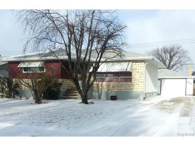 Main Photo: 643 Hartford Avenue in WINNIPEG: West Kildonan / Garden City Residential for sale (North West Winnipeg)  : MLS®# 1427986