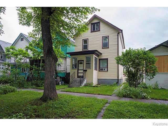 Main Photo: 1057 Ingersoll Street in WINNIPEG: West End / Wolseley Residential for sale (West Winnipeg)  : MLS®# 1519837