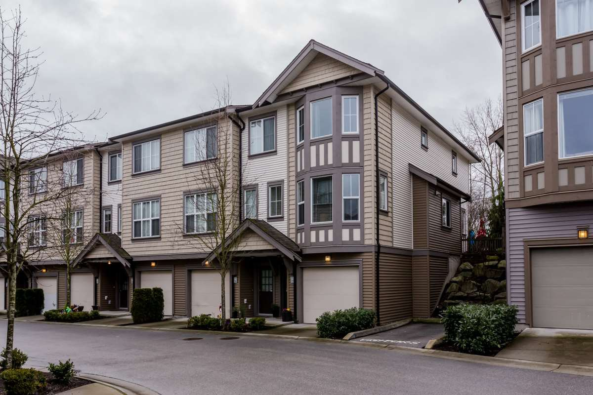 "Main Photo: 77 14838 61 Avenue in Surrey: Sullivan Station Townhouse for sale in ""Sequoia"" : MLS®# R2239071"