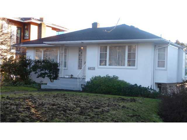 Main Photo: 4028 W 30TH Avenue in Vancouver: Dunbar House for sale (Vancouver West)  : MLS®# V883180