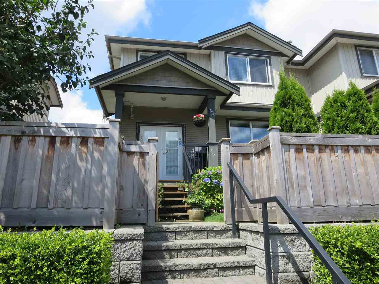 Photo 1: Photos: 63 3127 SKEENA Street in Port Coquitlam: Riverwood Townhouse for sale : MLS®# R2090693