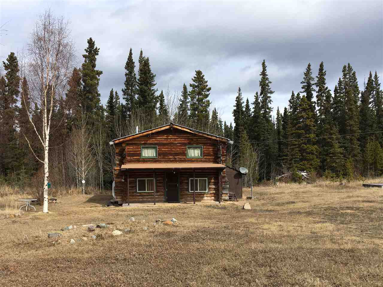 Well maintained cabin ... cistern is on the right side of the house.. Notice the birch trees ,,, special plantings!