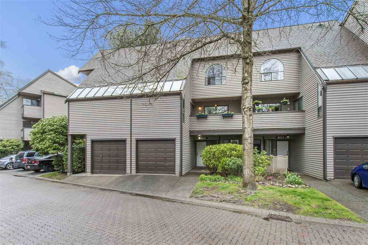"Main Photo: 8531 TIMBER Court in Burnaby: Forest Hills BN Townhouse for sale in ""S.F. Village"" (Burnaby North)  : MLS®# R2357141"