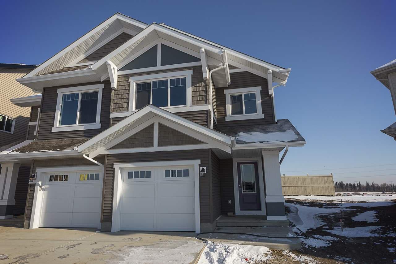 Main Photo: 665 Eagleson Crescent in Edmonton: Zone 57 House Half Duplex for sale : MLS®# E4178462