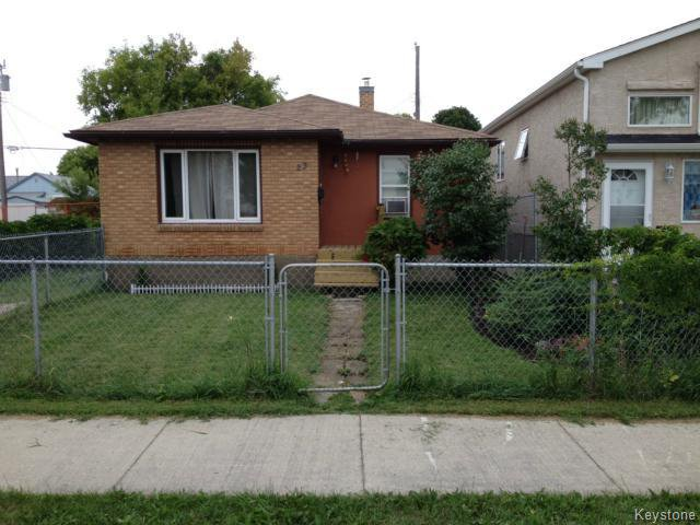 Main Photo: 23 Gallagher Avenue in WINNIPEG: Brooklands / Weston Residential for sale (West Winnipeg)  : MLS®# 1506359