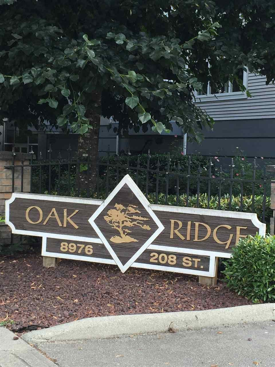"Main Photo: 106 8976 208 Street in Langley: Walnut Grove Condo for sale in ""oakridge"" : MLS®# R2091641"