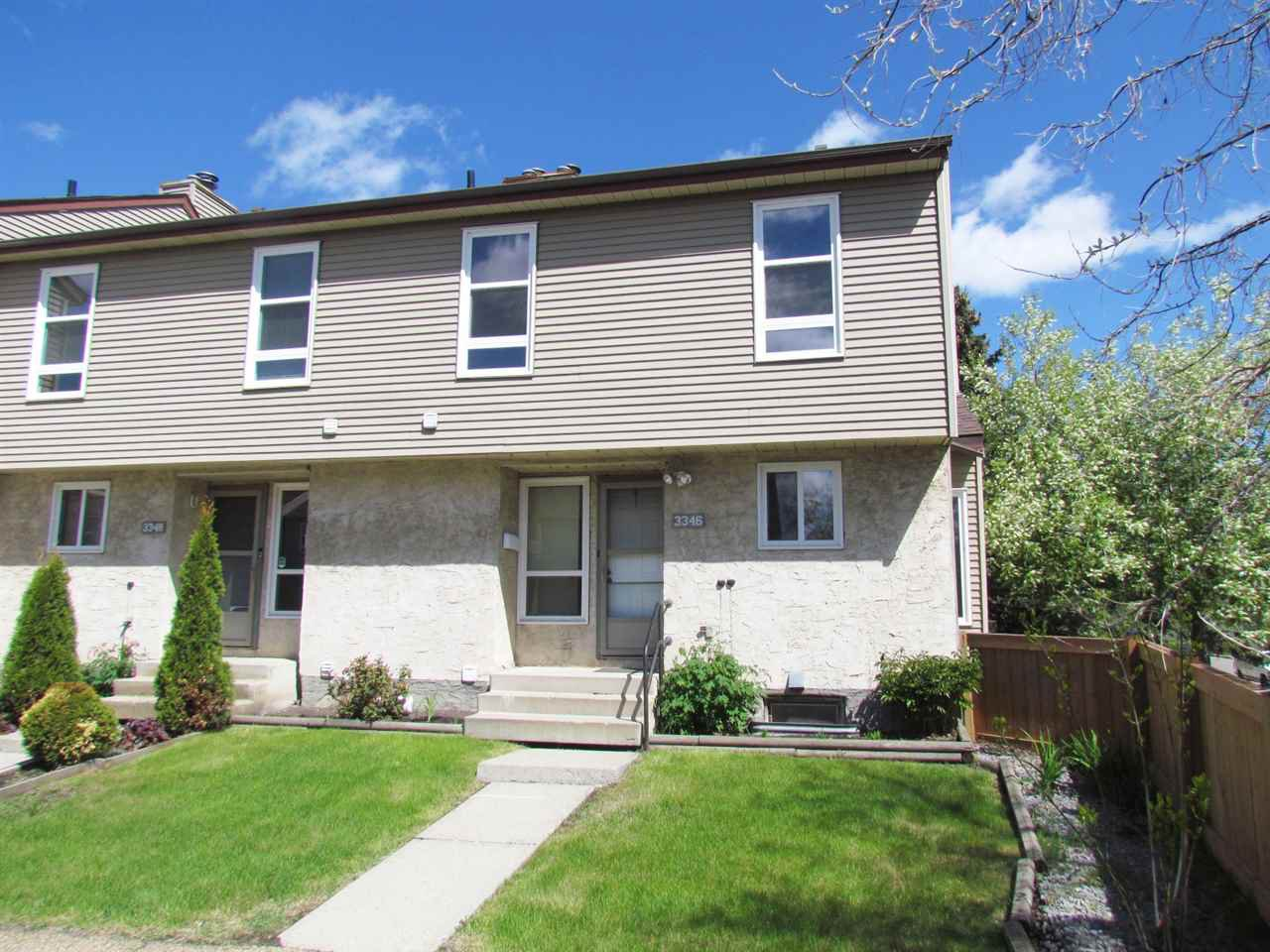Main Photo: 3346 116A Avenue in Edmonton: Zone 23 Townhouse for sale : MLS®# E4198570