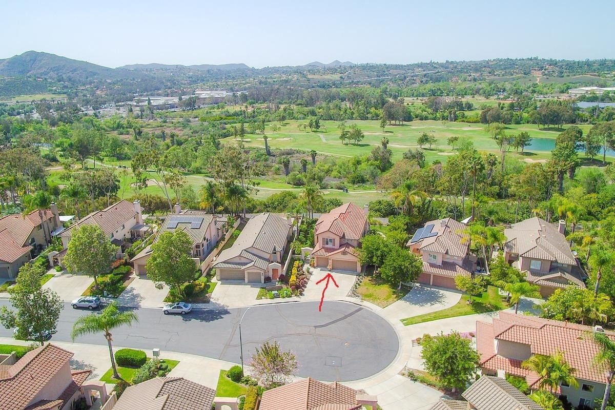 View of home and golf course behind!