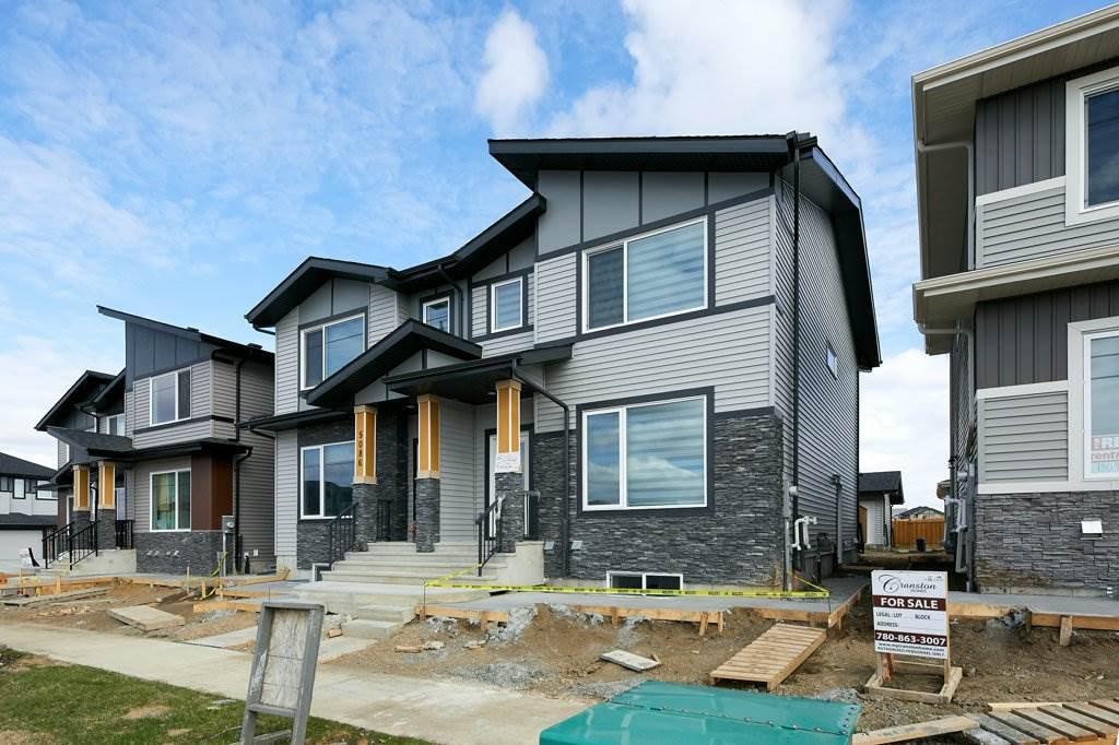 Main Photo: 5084 Chappelle Road in Edmonton: Zone 55 House Half Duplex for sale : MLS®# E4197922