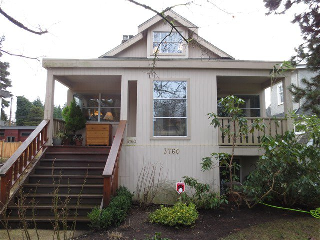 Main Photo: 3760 W 30TH Avenue in Vancouver: Dunbar House for sale (Vancouver West)  : MLS®# V1100110