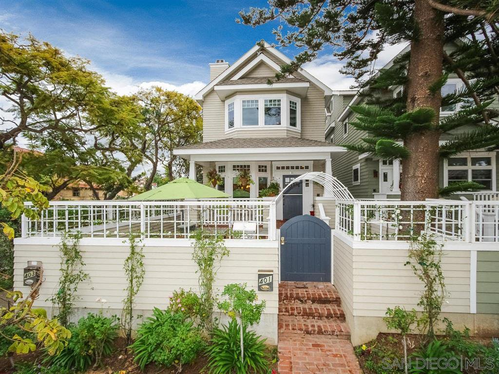 Main Photo: CORONADO VILLAGE House for sale : 4 bedrooms : 401 E Avenue in Coronado