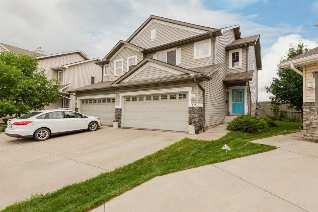 Main Photo: 1676 Melrose Place in Edmonton: Zone 55 House Half Duplex for sale : MLS®# E4163073