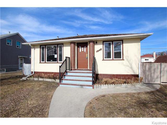 Main Photo: 1045 Magnus Avenue in Winnipeg: North End Residential for sale (North West Winnipeg)  : MLS®# 1606944