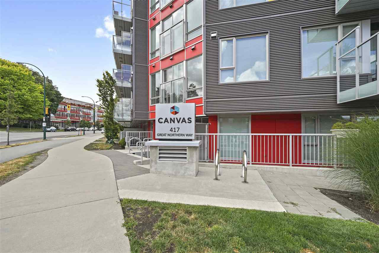 """Main Photo: 505 417 GREAT NORTHERN Way in Vancouver: Strathcona Condo for sale in """"CANVAS"""" (Vancouver East)  : MLS®# R2385413"""