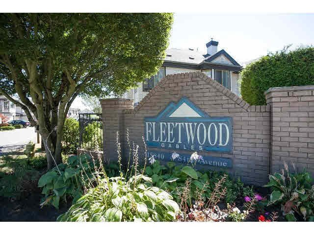 "Main Photo: 43 15840 84TH Avenue in Surrey: Fleetwood Tynehead Townhouse for sale in ""Fleetwood Gables"" : MLS®# F1448780"