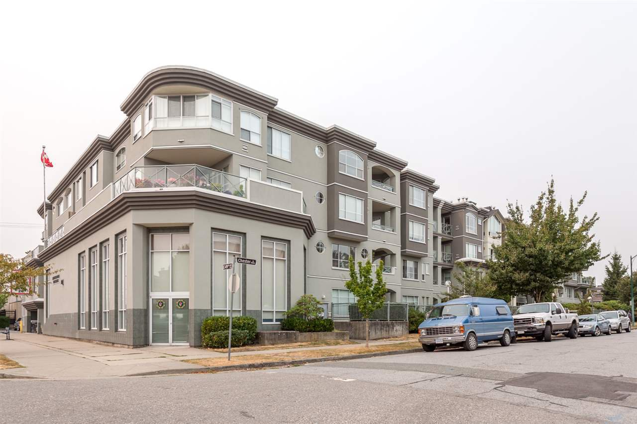 "Main Photo: 411 6475 CHESTER Street in Vancouver: Fraser VE Condo for sale in ""SOUTHRIDGE HOUSE"" (Vancouver East)  : MLS®# R2202385"