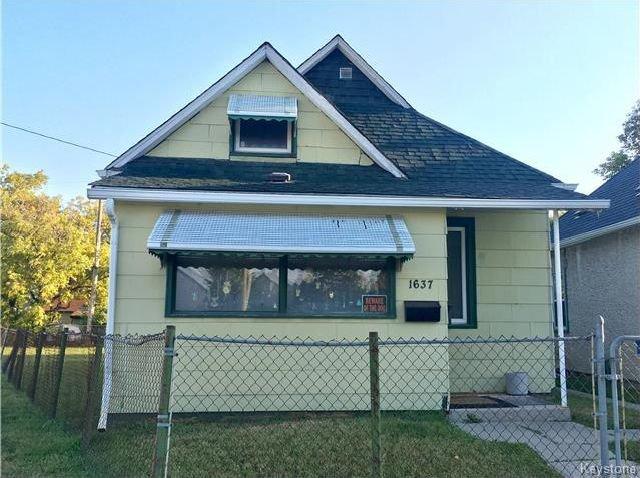 Main Photo: 1637 Ross Avenue West in Winnipeg: Weston Residential for sale (5D)  : MLS®# 1724879