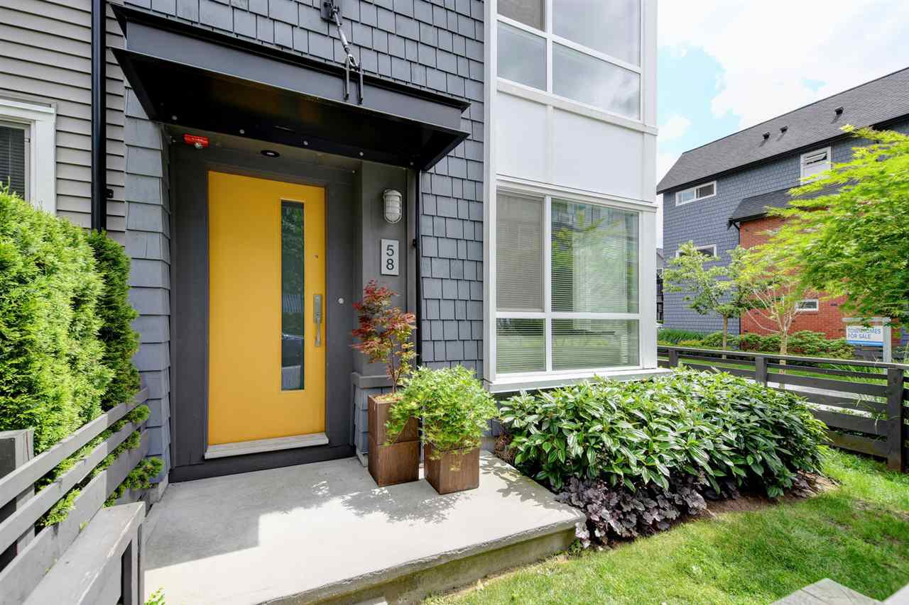 "Main Photo: 58 2358 RANGER Lane in Port Coquitlam: Riverwood Townhouse for sale in ""FREEMONT INDIGO"" : MLS®# R2376719"