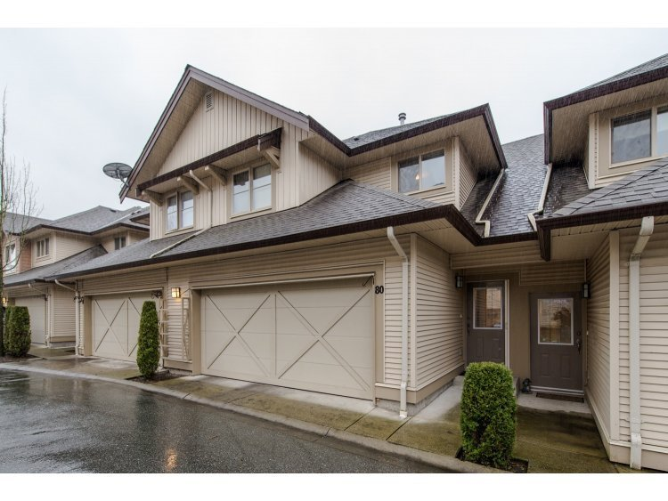 "Main Photo: 80 20350 68 Avenue in Langley: Willoughby Heights Townhouse for sale in ""SUNRIDGE"" : MLS®# R2029357"