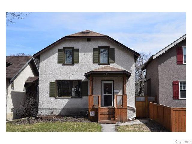 Main Photo: 731 Ingersoll Street in Winnipeg: West End / Wolseley Residential for sale (West Winnipeg)  : MLS®# 1610025