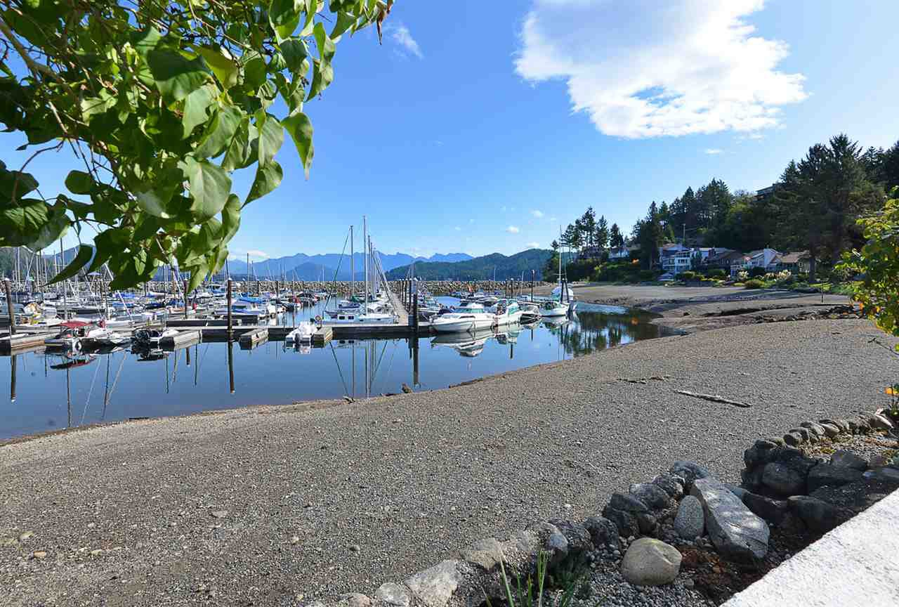 Stunning views of Gibson's Marina and the North shore mountains