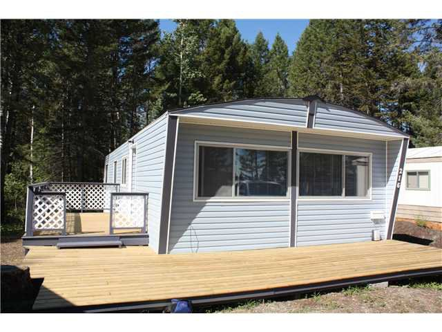 Main Photo: 216 1427 DOG CREEK Road in Williams Lake: Esler/Dog Creek Manufactured Home for sale (Williams Lake (Zone 27))  : MLS®# N210281