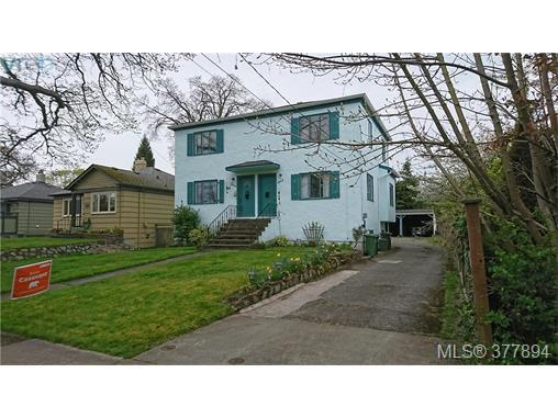 Main Photo: 1646 Davie St in VICTORIA: Vi Rockland Full Duplex for sale (Victoria)  : MLS®# 758644