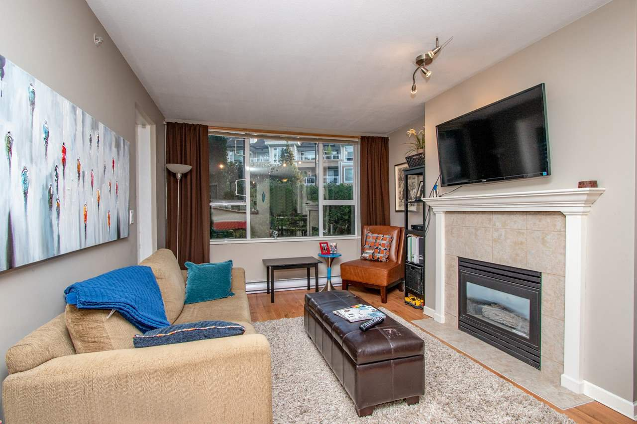 "Main Photo: 113 3608 DEERCREST Drive in North Vancouver: Roche Point Condo for sale in ""DEERFIELD AT RAVENWOODS"" : MLS®# R2395771"