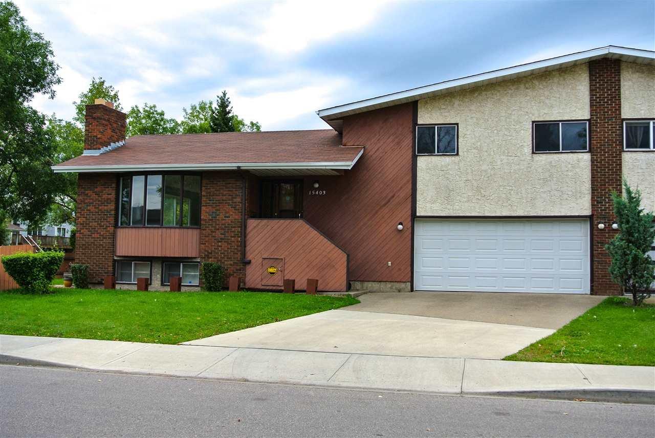 Main Photo: 15403 105 Avenue in Edmonton: Zone 21 House Half Duplex for sale : MLS®# E4172818