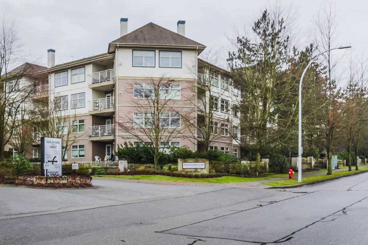 "Main Photo: 306 15210 GUILDFORD Drive in Surrey: Guildford Condo for sale in ""The Boulevard Club"" (North Surrey)  : MLS®# R2229571"