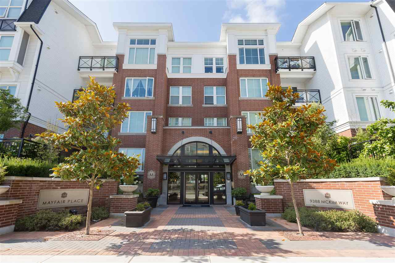 """Main Photo: 218 9388 MCKIM Way in Richmond: West Cambie Condo for sale in """"MAYFAIR PLACE"""" : MLS®# R2223574"""