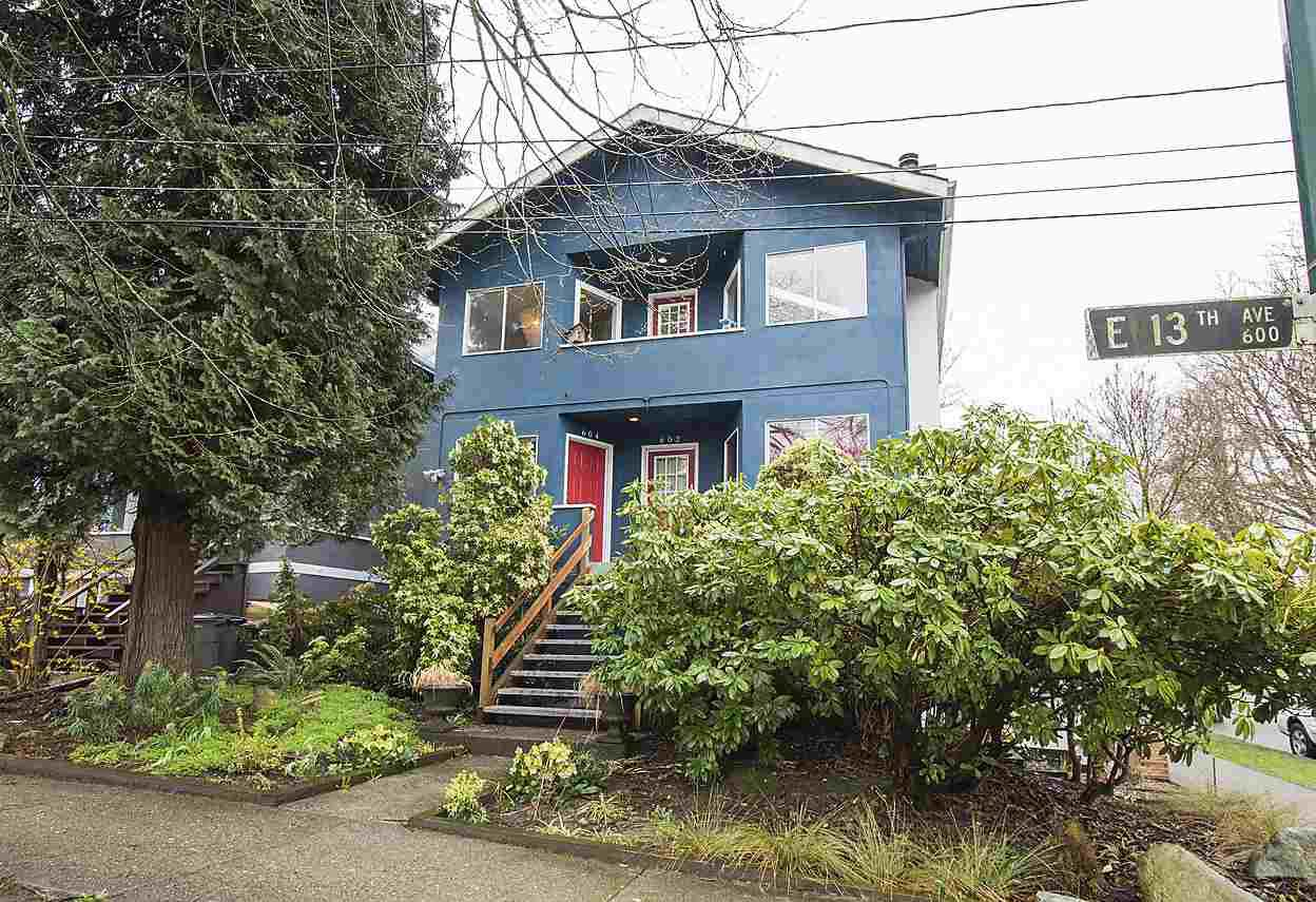 Main Photo: 604 E 13TH Avenue in Vancouver: Mount Pleasant VE Townhouse for sale (Vancouver East)  : MLS®# R2150975