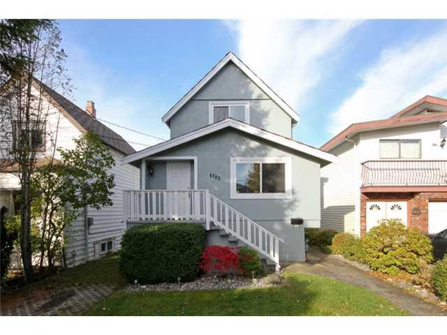 "Main Photo: 4703 GOTHARD Street in Vancouver: Collingwood VE House for sale in ""COLLINGWOOD"" (Vancouver East)  : MLS®# V916437"