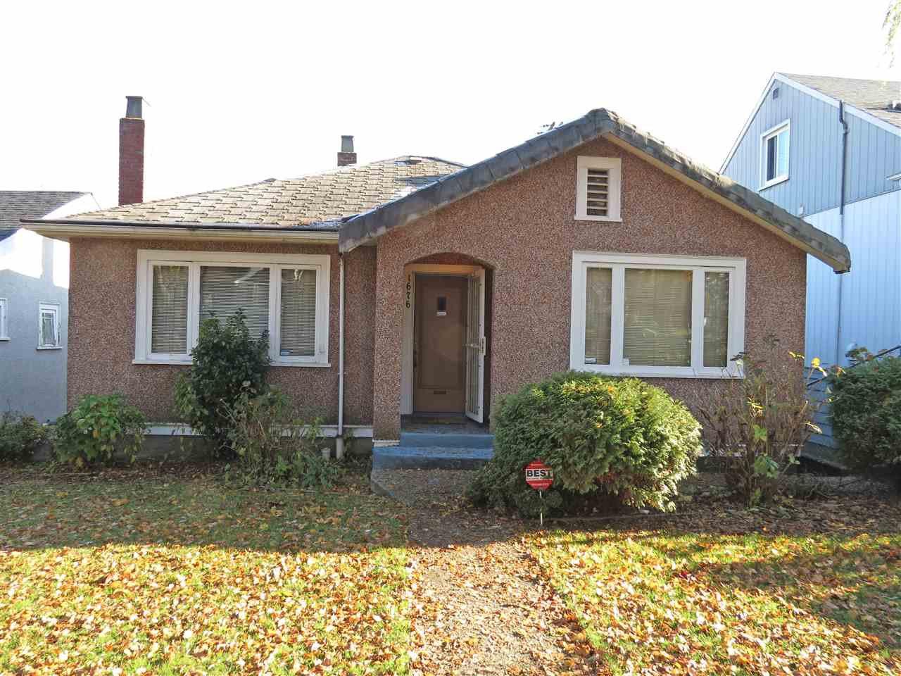 Main Photo: 1676 KAMLOOPS Street in Vancouver: Renfrew VE House for sale (Vancouver East)  : MLS®# R2017017