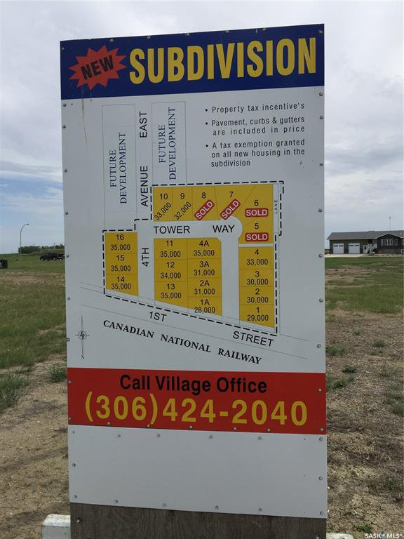 Main Photo: 136 Tower Way in Montmartre: Lot/Land for sale : MLS®# SK824611