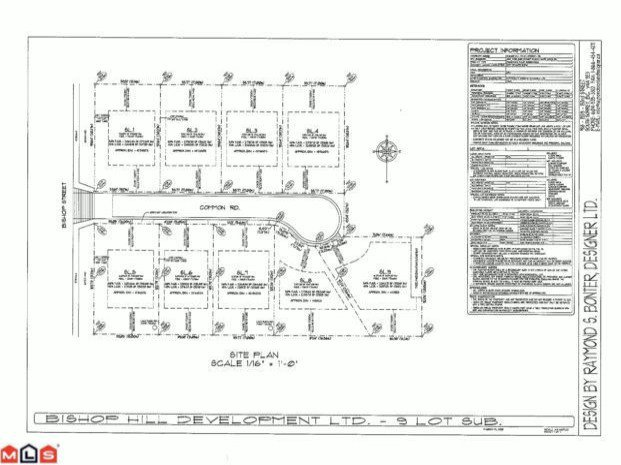 "Main Photo: LT.5 1496  BISHOP RD in White_Rock: White Rock Land for sale in ""BISHOP HILL ESTATES"" (South Surrey White Rock)  : MLS®# F1217371"