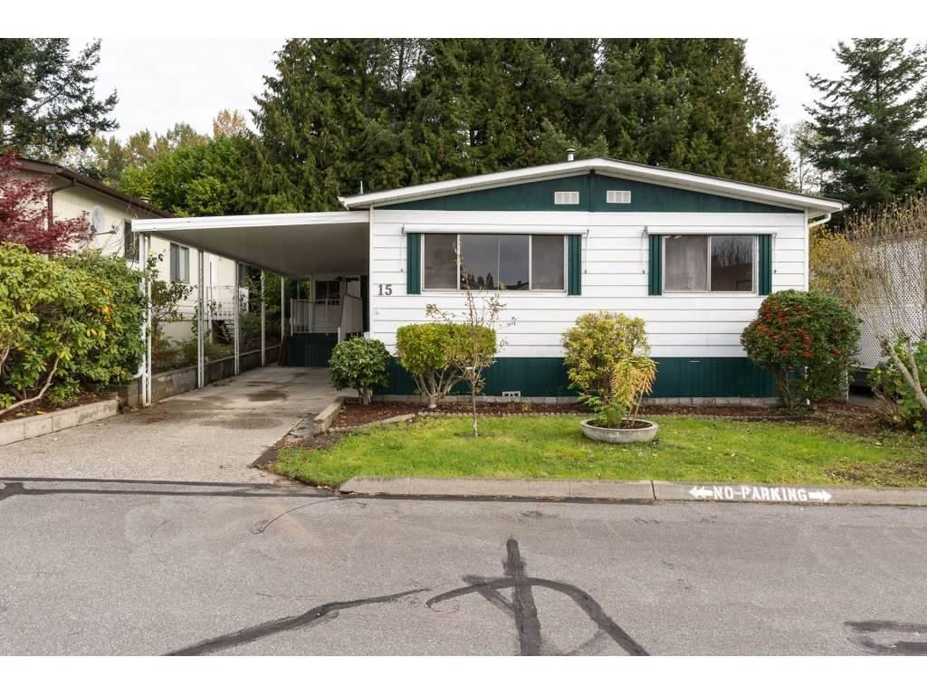 "Main Photo: 15 1640 162 Street in Surrey: King George Corridor Manufactured Home for sale in ""CHERRY BROOK PARK"" (South Surrey White Rock)  : MLS®# R2145736"